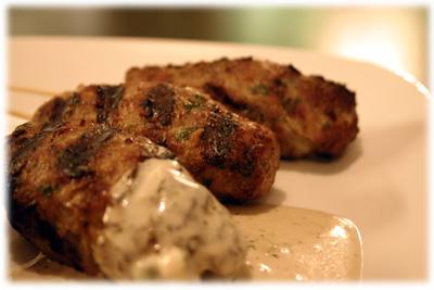 chicken kabobs with garlic sauce