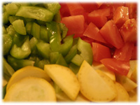 diced veggies