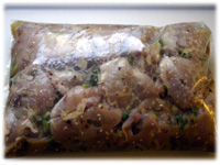 marinating thai chicken
