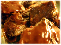 barbecue ribs and sauce