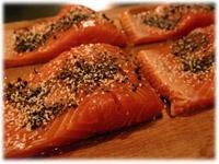 peppercorn crusted trout