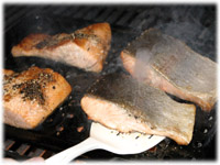 cooking trout on bbq