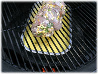 barbecue orange ginger beef indirect cooking