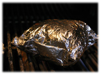 vegetable foil pouches on the grill
