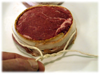 tie steak with butchers twine