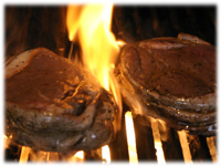 flame broiled filet mignon
