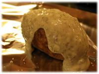 coat potato in garlic butter
