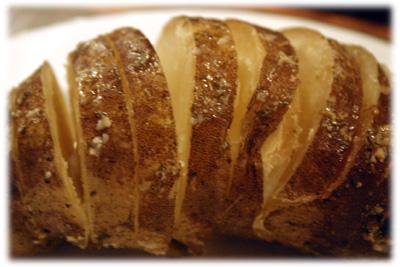 garlic butter baked potato recipe