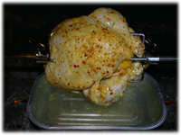 rotisserie chicken on bbq