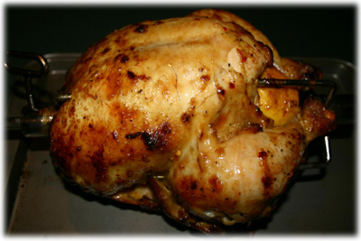 ginger garlic rotisserie chicken