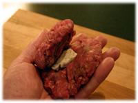 put butter in a hamburger patty