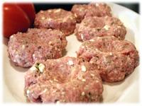 making greek pork burgers