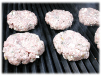 grilling pork burgers