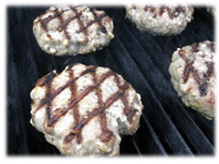 diamond pattern on burgers