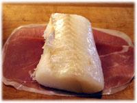 halibut prosciutto