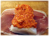 halibut with red pepper tapenade