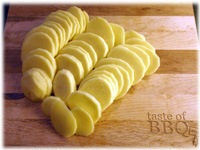 sliced potatoes for grilling