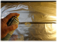 spray foil with pam