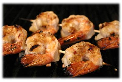 bbq lemon shrimp skewers
