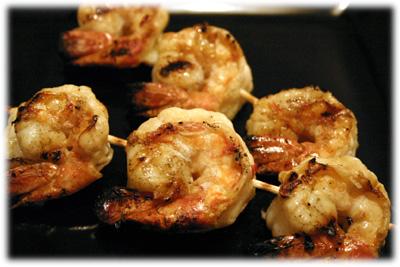lemon garlic grilled shrimp kabobs