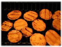 how to bbq sweet potatoes