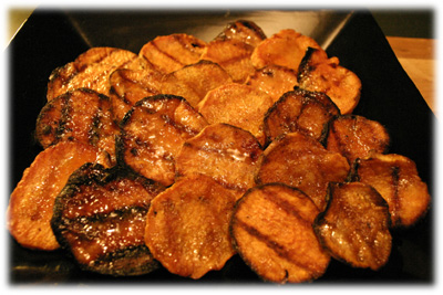 curry honey grilled sweet potatoes