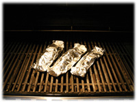 bbq fish wrapped in foil