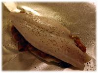 fish stuffed with salsa