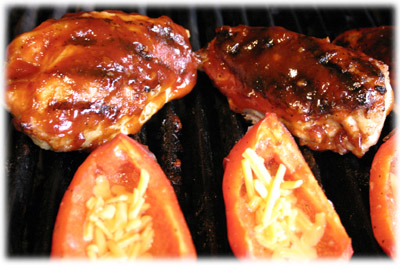 bbq chicken breast with honey garlic