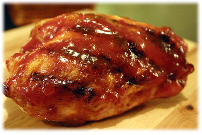 sweet and sticky grilled chicken
