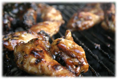 grilled honey garlic chicken wing recipe