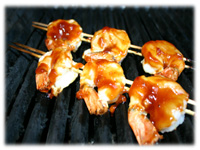 garlic shrimp on the grill