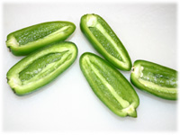 clean jalapeno peppers