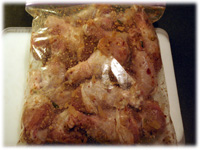 marinating chicken in a bag
