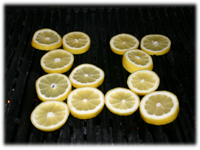 grilling lemon chickens