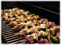 bbq pork tenderloin skewers