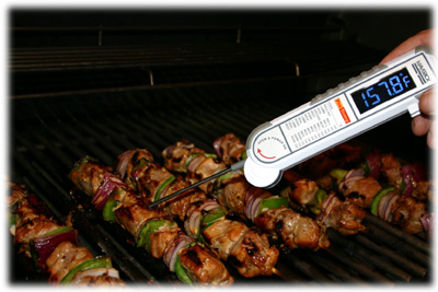 grilled marinated pork skewers