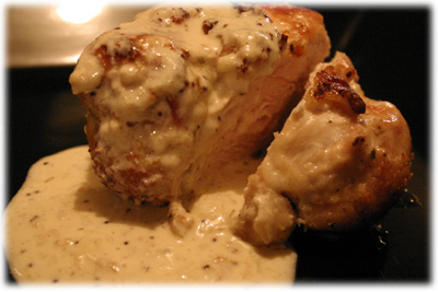 creamy mustard sauce on chicken
