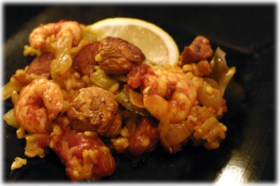 mixta grilled paella