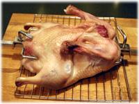 peking duck on rotisserie