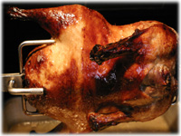 rotisserie cook peking duck