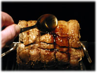 honey garlic basted rotisserie pork