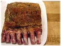bbq pork rib roast dry rubbed