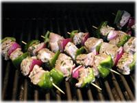 grilling greek pork skewers