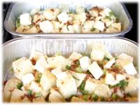making potatoes au gratin