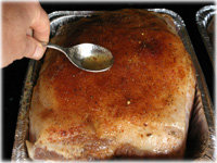 basting pulled pork