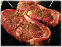 how to grill rib eye steaks