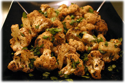 roasted cauliflower with coriander