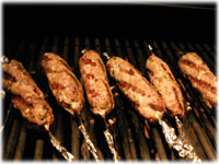 barbecue pork kebabs