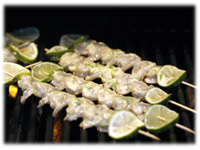 grilled shrimp curry kebabs recipe